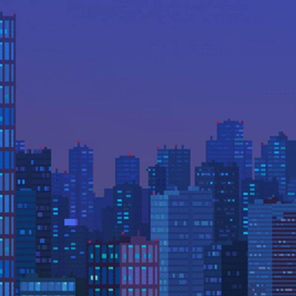 我在 GIF 艺术家 waneella 的像素都市中体验了侘寂的无常