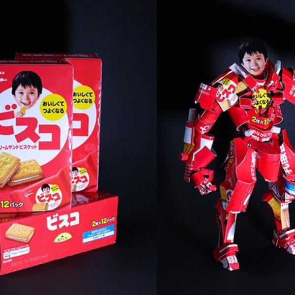 """特别的垃圾回收:日本 """"空箱职人"""" 将零食包装变成立体艺术玩具"""