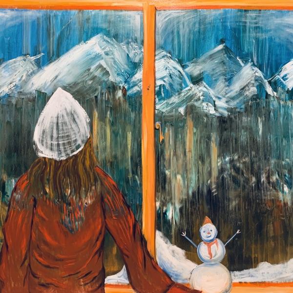 #交个朋友# 吴沁蔚想要用油画分享她眼中的《人与自然》和生活日常