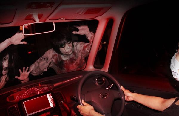 别的简报|东京汽车鬼屋让你在车里体验惊悚
