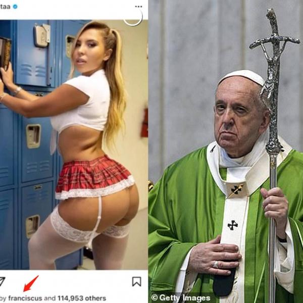 别的简报丨教皇方济各的 Instagram 账号点赞了比基尼模特的性感照片