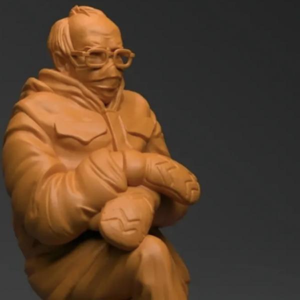 别的简报|你可以拥有伯尼·桑德斯的3D打印模型了